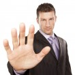 Business Man With Stop Hand Up — Stock Photo
