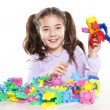 Little girl enjoys playing — Stock Photo