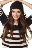 Fur hat, and blouse — Stock Photo