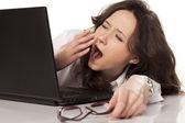 Cansado y aburrido — Foto de Stock