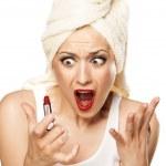 Shock during makeup — Stock Photo