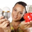Saving money with LED — Stock Photo #31327525