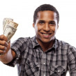 Money and smile — Stock Photo