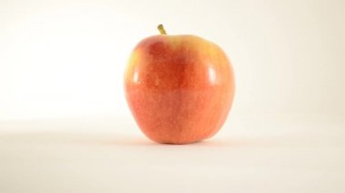 Rotating Royal Gala Apple Against White - Dolly Left — Stock Video