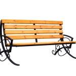 Decorative wooden bench — Stock Photo