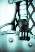 The iron hand of a knight — Stock Photo