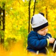 A child photographer in the Park — 图库照片