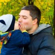 Father hugs his son — Stock Photo #41825641