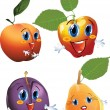 Stock Vector: Cartoon fruits