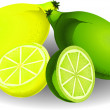 Stock Vector: Lemon & lime