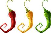 Set of pepper — Stock Vector