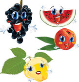 Cartoon fruits — Stock Vector