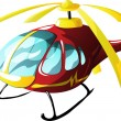 Stock Vector: Cartoon ambulance helicopter