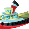 Royalty-Free Stock Vector Image: Cartoon Tug Boat