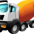 Cartoon  cement truck — Stock Vector