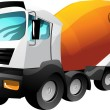 Stock Vector: Cartoon cement truck