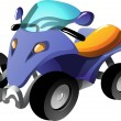 Cartoon quad bike — Stock Vector