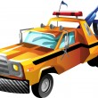 Cartoon tow truck — Stock Vector