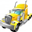 Cartoon semi truck — Vetorial Stock #18225887