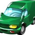Cartoon delivery van — Stock Vector #18225989