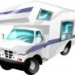 Stock Vector: Motorhome