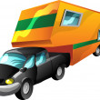 Stock Vector: Cartoon Motorhome