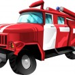 Cartoon Fire Truck — Stock Vector