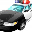 Stock Vector: Cartoon Police Car