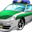 Cartoon Police Car — Stock Vector