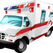Stock Vector: Cartoon ambulance