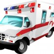 Cartoon ambulance - Stock Vector