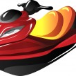 Cartoon Jet Ski - Stock Vector