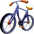 Stock Vector: Cartoon bike