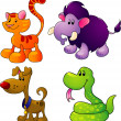 Royalty-Free Stock Obraz wektorowy: Cartoon animals