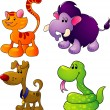 Stock Vector: Cartoon animals