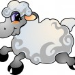 Stock Vector: Cartoon sheep