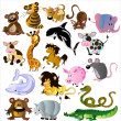 Cartoon animals vector — Stock Vector