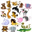 Cartoon animals vector — Imagen vectorial