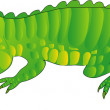 Cartoon crocodile — Stock Vector