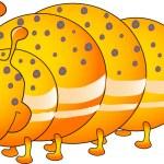 Cartoon worm. Gusenica. — Stock Vector