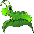 Cartoon caterpillar - Stock Vector