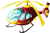 Cartoon ambulance helicopter — Stock Vector