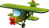 Cartoon airplane — Stock Vector