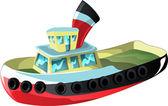 Cartoon Tug Boat — Stock Vector