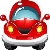 Cartoon red car — Stock Vector