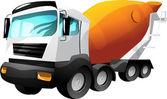 Cartoon cement truck — Stock Vector