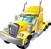Cartoon semi truck — Stock Vector