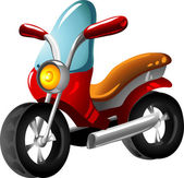 Cartoon motorcycle — Stock Vector
