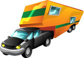 Cartoon Motorhome — Stock Vector