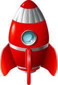 Cartoon rocket — Stock Vector